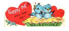 Vintage Tweety Pie Valentine..so cute!