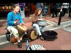 Djembe & Hang Drum buskers on Grafton St. May10th '11