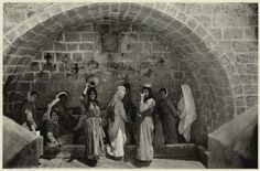 Mary's Well in Nazareth, 1925 www.ffhl.org #Franciscan #HolyLand