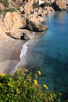 Nerja, Spain.... walked this beach and sat to reflect many moons ago!