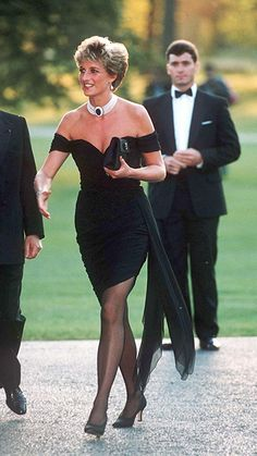 Diana wore the slinky black dress in 1994, when she attended the Serpentine's summer party. Her off-the-shoulder number is perhaps one of her most memorable outfits and was a clear departure from her more demure style.