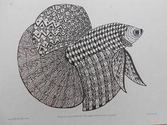 zentangled fish
