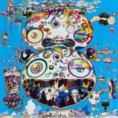 """Ik ben groot fan van kunstenaar Takashi Murakami."" Op de afbeelding is het werk Tan Tan Bo - In Communication, 2014 te zien. © 2014 Takashi Murakami/Kaikai Kiki Co., Ltd. All Rights Reserved. Photography by Robert McKeever. Courtesy Gagosian Gallery."