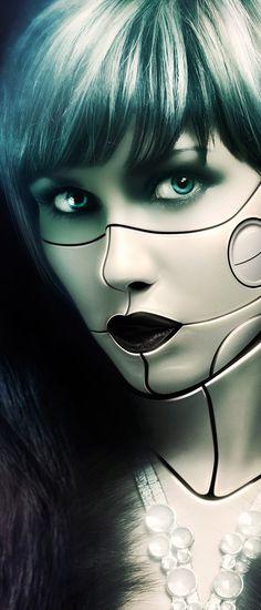 Cyborg tutorial for psdmag on Behance