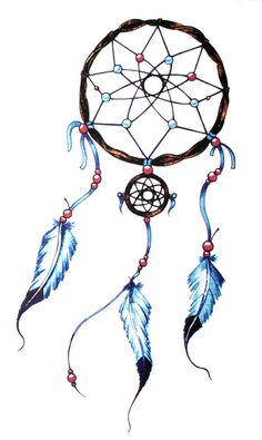 Yeeech Temporary Tattoo Paper Large Indian Dreamcatcher for Women Blue * To view further, visit now : wedding Makeup