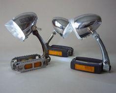 Lampe aus recycelten Fahrrädern