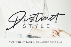 Distinct Style Font Duo by Sam Parrett on @creativemarket