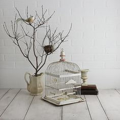 Antique Wire Birdcage  Early 1900's Bird Cage by ZinniaCottage, $59.00