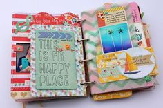 what a great post about a mini scrapbook album