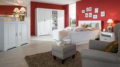 Spálňa Decodom: Tirol  prevedenie: Biela Arctic - Biela Arctic  [Bedroom: Tirol colours: White Arctic - White Arctic] Art Pieces, Couch, Colours, Bedroom, Furniture, Arctic, Home Decor, Settee, Decoration Home