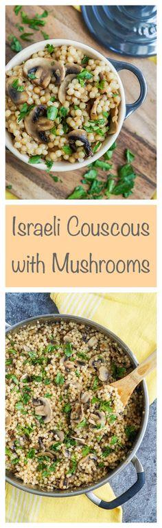 Israeli Couscous with Mushrooms  #couscous #mushroom #mushrooms…