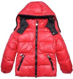 Moncler Kids Jacket Boy Red