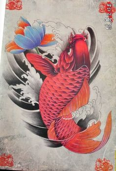 Pez Koi Tattoo, Koi Tattoo Sleeve, Carp Tattoo, Japanese Drawings, Japanese Tattoo Designs, Japanese Tattoo Art, Japanese Art, Koi Art, Fish Art
