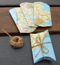 Turn old maps into gifts and souvenirs from your travels!