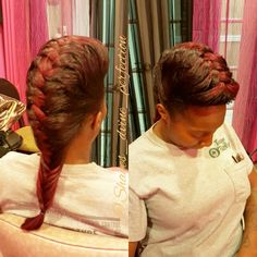 """Fishtail Braids Straight Back [First time trying this style, I think I did good)   IG: Shayes_dvine_perfection FB: Shayes D'vine Perfection Www.styleseat.com/shalandawilliams2 """"Come Get Shayed & Slayed"""""""