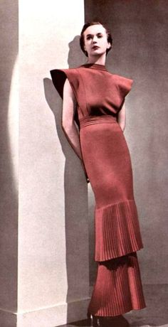 1936 - Robert Piguet Dinner gown photo Georges Saad