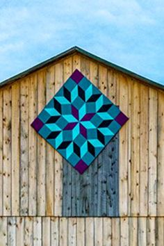 The unique designs and motifs showcased in this form of textile art tell a story of people and place, both past and present. Barn Quilt Designs, Barn Quilt Patterns, Quilting Designs, Ontario, Painted Barn Quilts, Barn Art, Star Quilt Blocks, Tuscan Decorating, Diy Garden