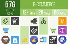 576 Ecommerce Icons by IconBunny on @creativemarket