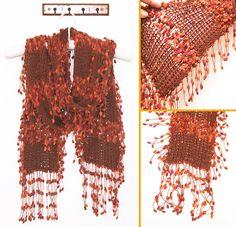 ¡Un tip para hacer bufandas divertidas y con mucho movimiento!  Quedan lindas si le ponen flecos en todo lo largo (y no solo a los bordes!)