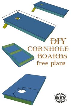 Free step by step plans with printable PDF of how to build a DIY cornhole boards. Simple build using basic tools and lots of fun. Woodworking Hand Tools, Woodworking Projects Diy, Diy Wood Projects, Woodworking Plans, Woodworking Jigsaw, Wood Tools, Woodworking Classes, Woodworking Furniture, Cornhole Designs