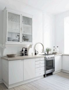 Kitchen On Pinterest Open Shelves Cottage Kitchens And White