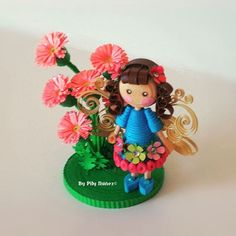 Little fairy in quilling paper by Pily Núñez/Creaquilling (Chile) www.creaquilling.blogspot.com