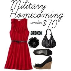 """""""Military Homecoming under $70"""" by veteransunited on Polyvore"""