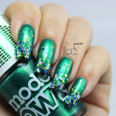 Bejewelled Gradient Nails with Models Own http://ift.tt/1xz4Pk4