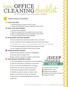 Organize Your Home Office {Day 11 | Cleaning Checklist, Organizing And Ruth  Soukup
