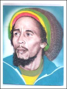 Bob Marley Reggae Art, Reggae Music, Black Couple Art, Black Art, Image Bob Marley, Bob Marley Painting, Bob Music, Jamaican Art, Rasta Art