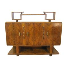 French Art Deco Sideboard Credenza Bakelite Handles | From a unique collection of antique and modern sideboards at http://www.1stdibs.com/furniture/storage-case-pieces/sideboards/