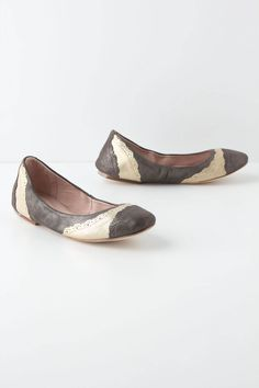 The perfect match for your darkest denim shorts, metallic shimmer illuminates these two-toned femme flats. By Bloch. - Fits true to size - Leather upper, insole - Leather, synthetic sole - Imported