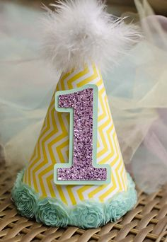 DIY Kid's Party Hat using your Silhouette | unOriginalMom.com #firstbirthday