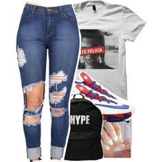ugh by dopest-queens on Polyvore featuring ASAP and NIKE