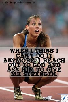 His strength is endless. Lolo Jones...what an inspiration.