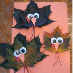 Make Turkeys From Maple Leaves Craft