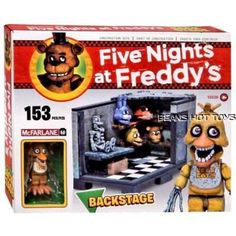 Five Nights at Freddy's BACKSTAGE Construction Set 153 PC  McFarlane Toys FNAF #McFarlane