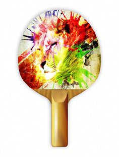 """Play ping pong with style with Uberpong's """"SAFARI"""" paddle. Get yours for $39.99 on uberpong.com #uberpongstyle"""