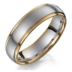 Two Tone Wedding Bands Collection.