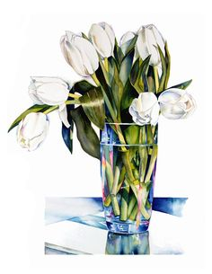 Brilliant depiction of glass by Sally Robertson. Her entire watercolour gallery is a joy to look through