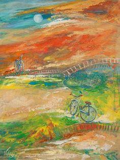 $800 original On The Road by Elsa Victorios