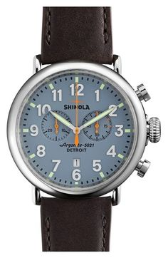 Shinola+'The+Runwell+Chrono'+Leather+Strap+Watch,+47mm+available+at+#Nordstrom