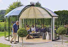 Glaspavillon drehbar kaufen: Runde & eckige Pavillons aus Glas »