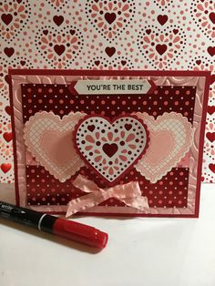 From The Heart Valentines – My Stampin Dreams - Valentines Valentines Day Cards Handmade, Valentine Greeting Cards, Valentines For Kids, Valentine Crafts, Valentine Ideas, Valentine Nails, Wedding Anniversary Cards, Cards For Friends, Card Maker