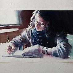 Segunda-feira, #aquarela #watercolor. Workshop em SP: 1 e 2 de outubro. Inscrições: contato@pleinairstudio.com.br.