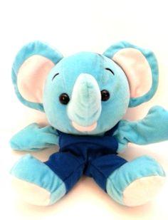 "Blue Elephant Hand Puppet Full Body Pretend Play Glove 10"" Plush Stuffed  #Unbranded"