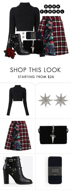 """""""Untitled #398"""" by maro-sousa ❤ liked on Polyvore featuring Balmain, Bee Goddess, MSGM, Cesare Paciotti, Valentino, J.Crew and darkflorals"""