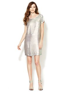 Fast Eden Sequin Striped Dress by French Connection at Gilt