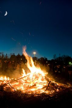 Walpurgisnight, last day of April, the celebration of spring and upcoming summer, Sweden