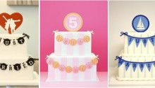 Banner Cakes  by Eat Cake Be Merry